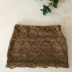 Altar'd State Skirts - Altar'd State - Lace Mini Skirt- Size M